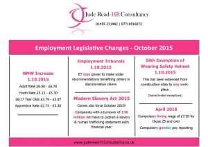Employment Legislation Changes