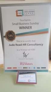 SBS Winners Event 2019   Jude Read-HR Consultancy