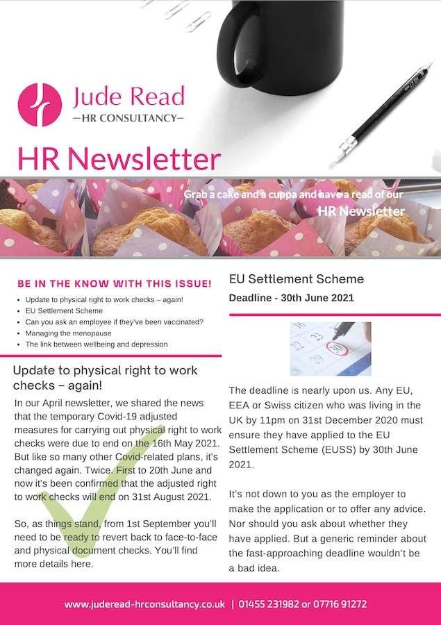 Jude Read HR Newsletter